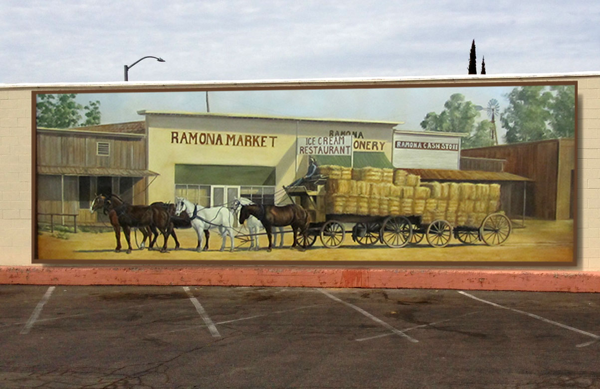 Historic commerce mural ramona heart murals for Mural history