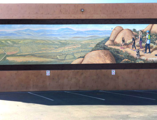 """Our 16th Mural """"Hiking on Mt. Woodson"""" at Ramona Fitness Center"""